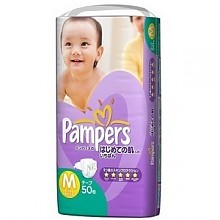 帮宝适特级棉柔系列紫帮纸尿裤M50片