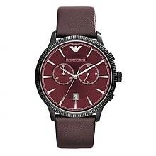 安普里奥•阿玛尼  AR1795 男款针扣皮革石英手表