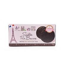 法之恋黑巧克力包衣黄油饼干135g*2盒