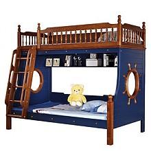 限地区:木巴 C331 胡桃木儿童高低床