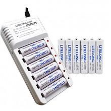 力特朗 充电电池套装:充电器+5号/7号电池共12节