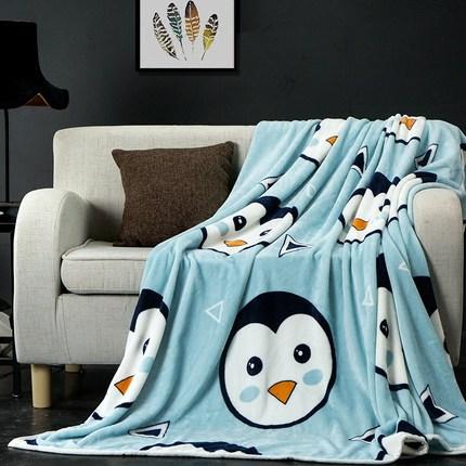 法兰绒午睡毛毯