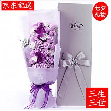 PLUS会员:33朵玫瑰香皂花礼盒