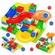 北国e家 滑道拼装玩具大号52粒