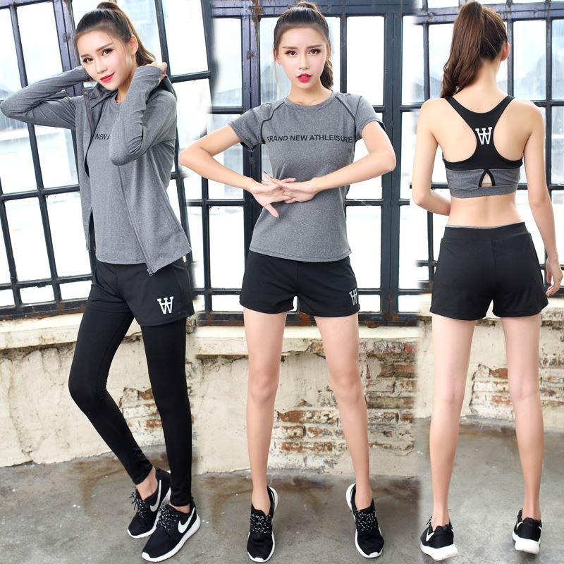 瑜伽跑步运动五件套女