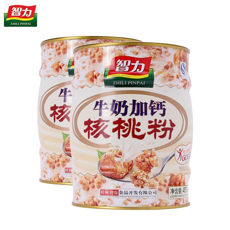 智力牛奶加钙核桃粉404g*2罐