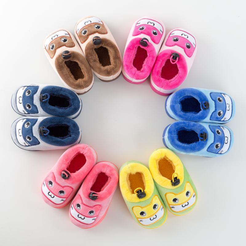 冬季可爱保暖儿童棉拖鞋