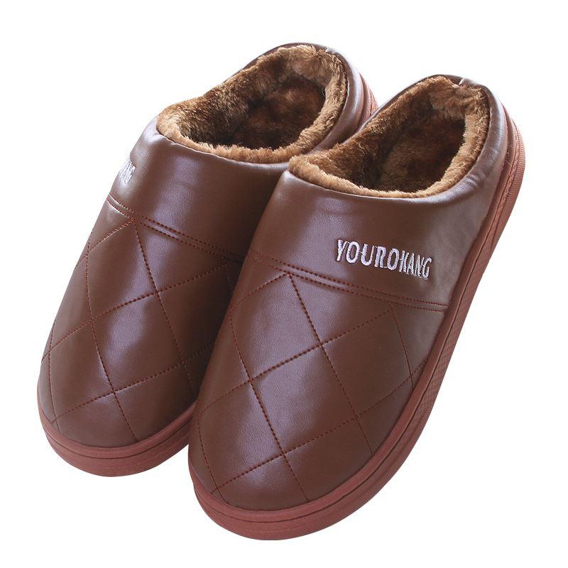 防水情侣半包跟棉拖鞋