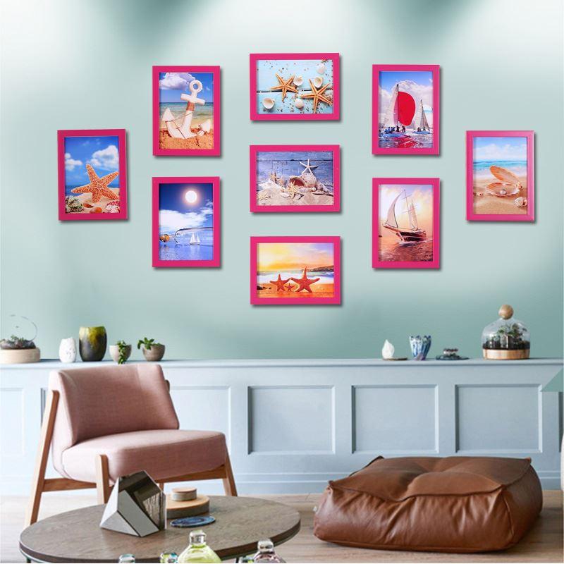 7寸*9个创意照片墙装饰画组合