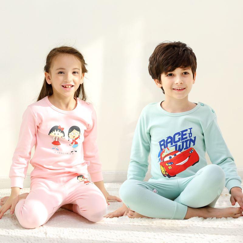 儿童纯棉秋款套装男童女童睡衣