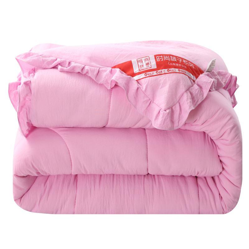 荷叶边水洗棉加厚保暖冬被6斤