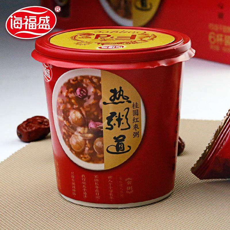 海福盛红枣桂圆粥12杯箱装