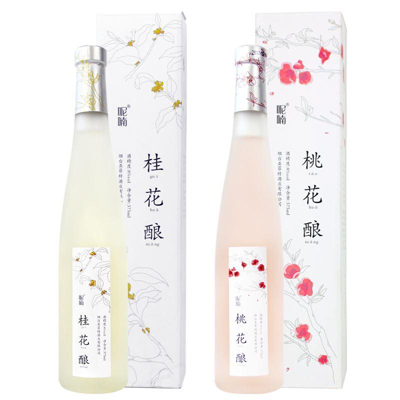 两支装桃花酒桂花酿组合